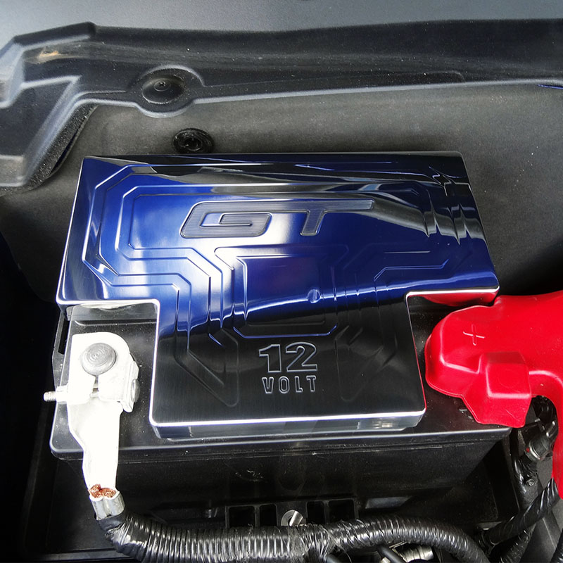 Upr Mustang 5 0l Billet Factory Battery Cover With Gt Logo O E Sd