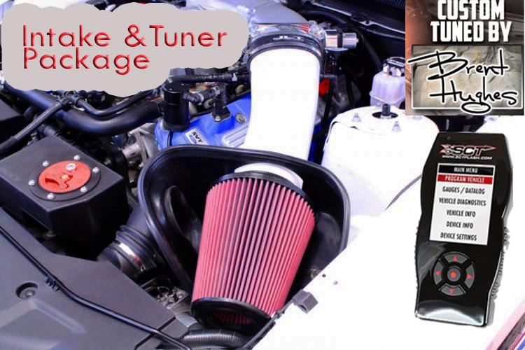 PKG:JLT PAINTED BIG AIR INTAKE/SCT X-4 TUNER/PULLEY (10-14 GT500
