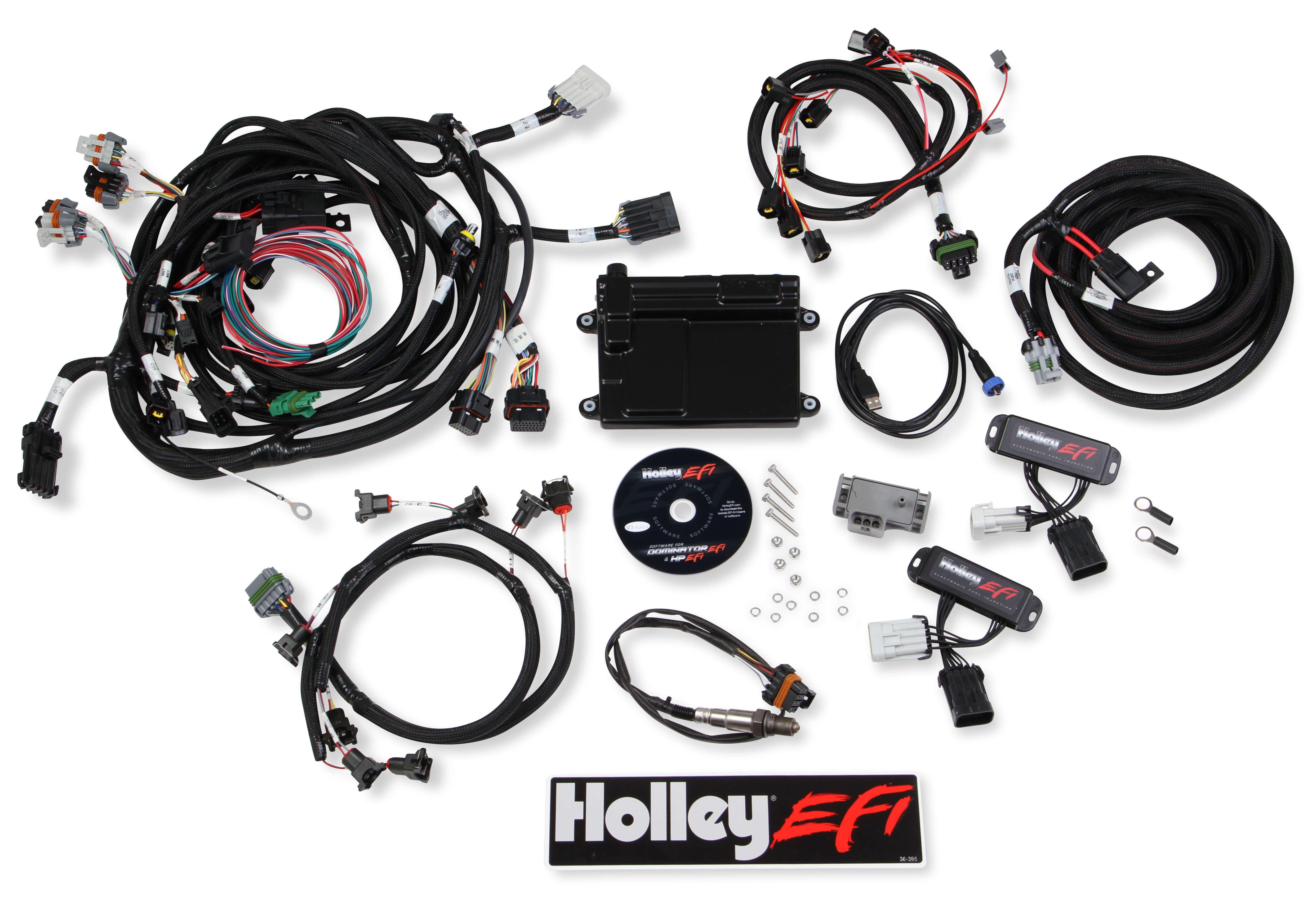1999-2004 Holley EFI ECU & HARNESS KIT 4 Valve Modular Engines